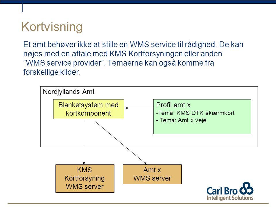 Kortvisning Et amt behøver ikke at stille en WMS service til rådighed.