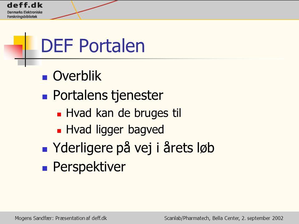 Mogens Sandfær: Præsentation af deff.dk Scanlab/Pharmatech, Bella Center, 2.
