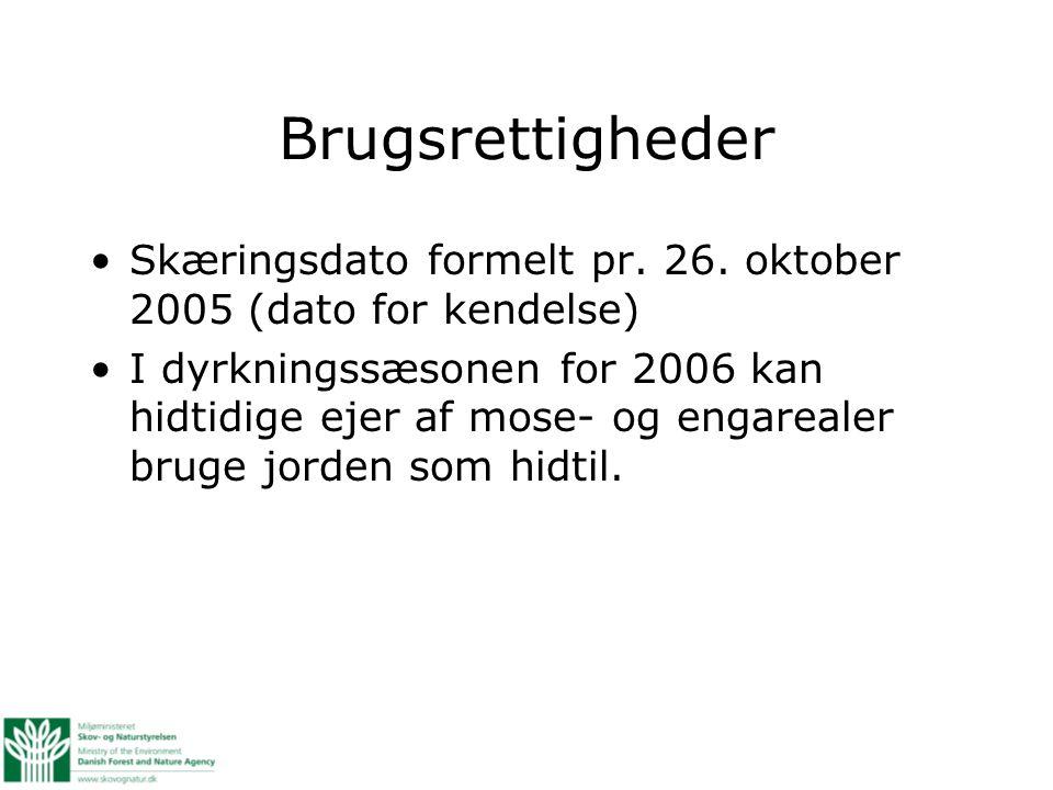 Brugsrettigheder Skæringsdato formelt pr. 26.