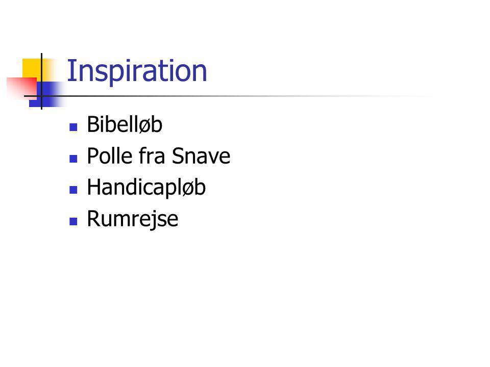 Inspiration Bibelløb Polle fra Snave Handicapløb Rumrejse