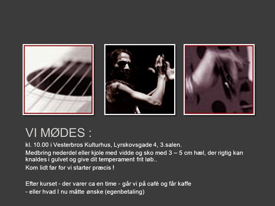 VI MØDES : kl. 10.00 i Vesterbros Kulturhus, Lyrskovsgade 4, 3.salen.