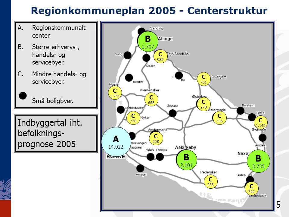 Regionkommuneplan 2005 - Centerstruktur A.Regionskommunalt center.