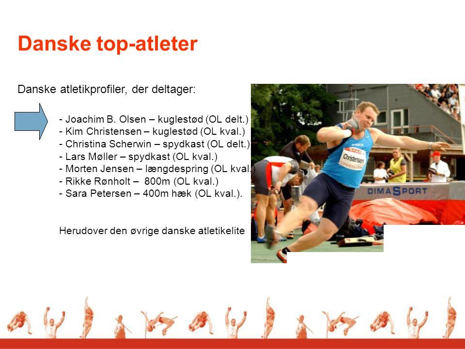 Danske atletikprofiler, der deltager: - Joachim B.
