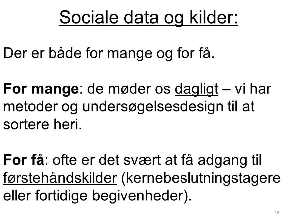 Sociale data og kilder: Der er både for mange og for få.