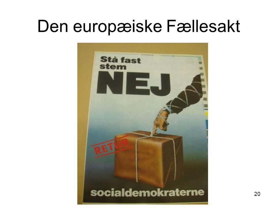 Den europæiske Fællesakt 20