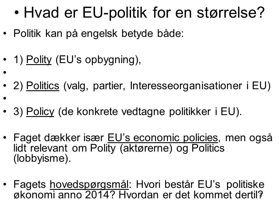 Hvad er EU-politik for en størrelse.