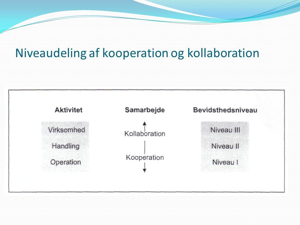 Niveaudeling af kooperation og kollaboration