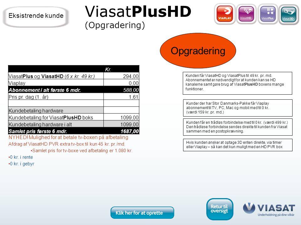 Opgradering ViasatPlusHD (Opgradering) Kunder der har Stor Danmarks-Pakke får Viaplay abonnement til TV, PC, Mac og mobil med til 0 kr.