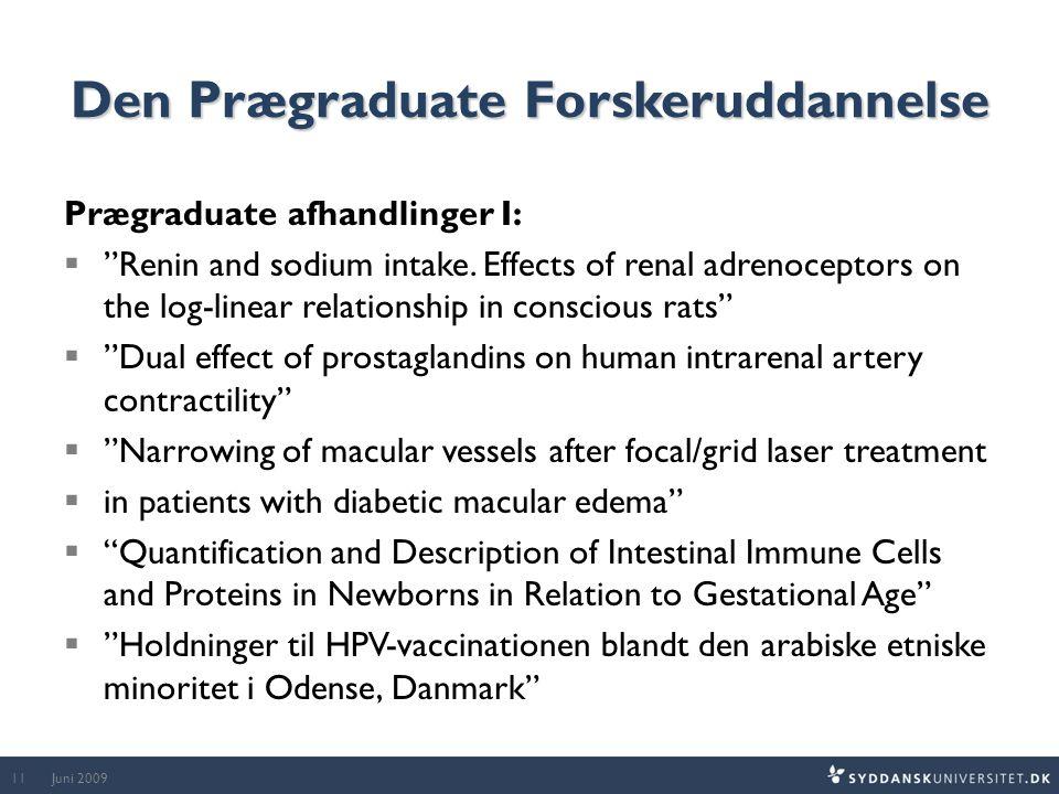 Den Prægraduate Forskeruddannelse Prægraduate afhandlinger I:  Renin and sodium intake.