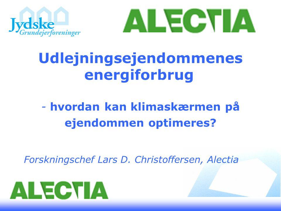 Udlejningsejendommenes energiforbrug - hvordan kan klimaskærmen på ejendommen optimeres.