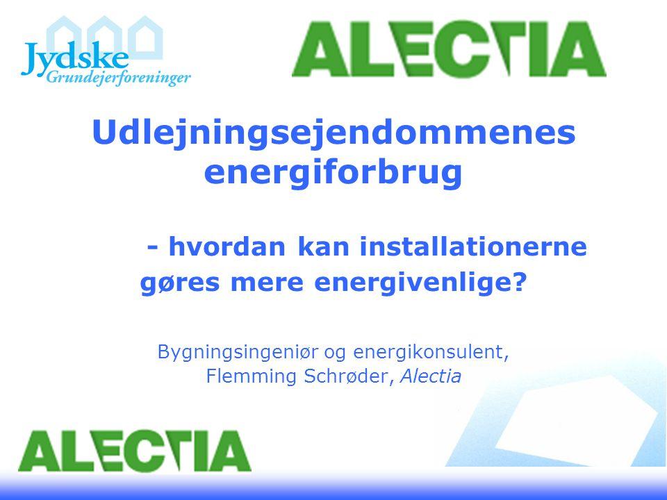 Udlejningsejendommenes energiforbrug - hvordan kan installationerne gøres mere energivenlige.