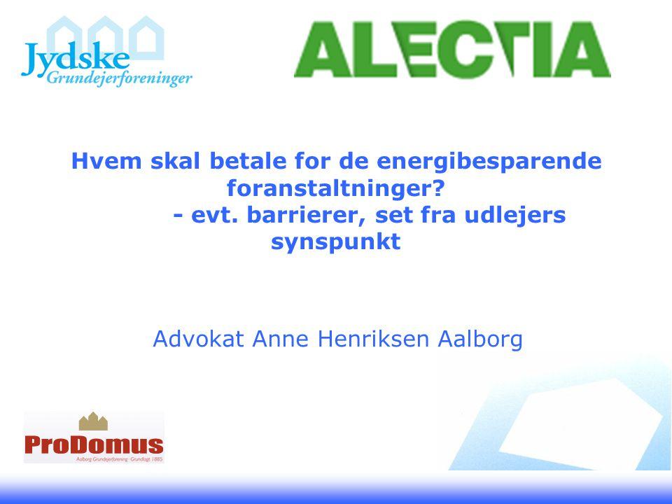 Hvem skal betale for de energibesparende foranstaltninger.