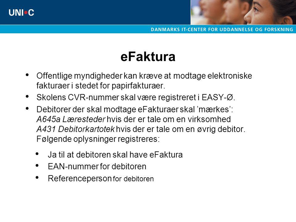 eFaktura Offentlige myndigheder kan kræve at modtage elektroniske fakturaer i stedet for papirfakturaer.