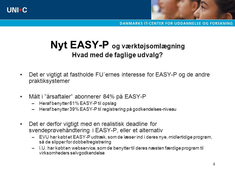 4 Nyt EASY-P og værktøjsomlægning Hvad med de faglige udvalg.