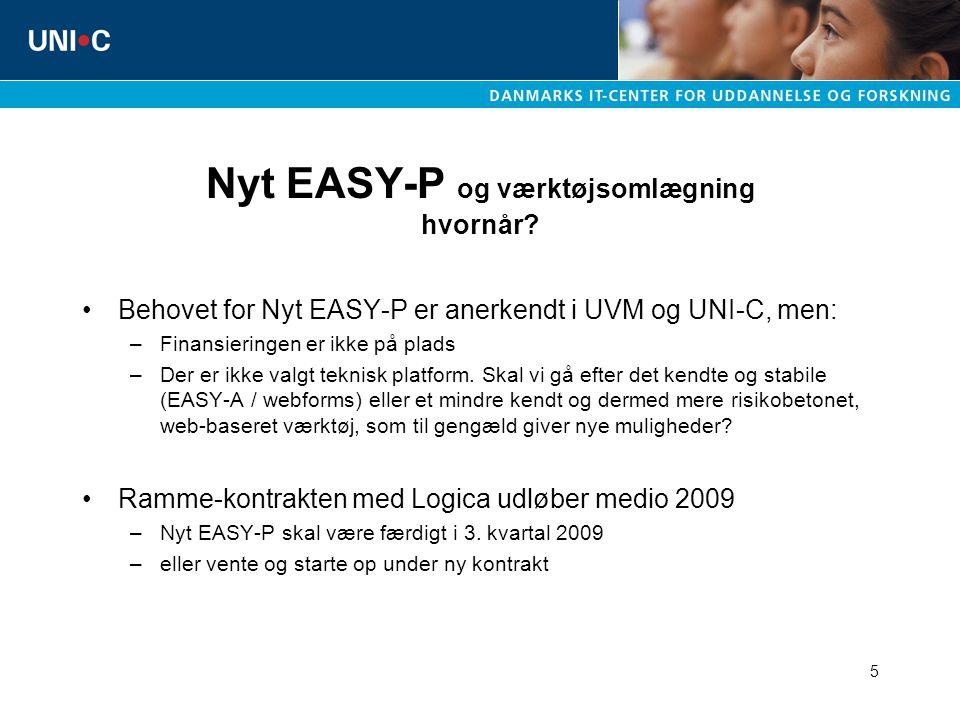 5 Nyt EASY-P og værktøjsomlægning hvornår.