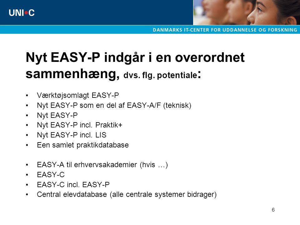 6 Nyt EASY-P indgår i en overordnet sammenhæng, dvs.