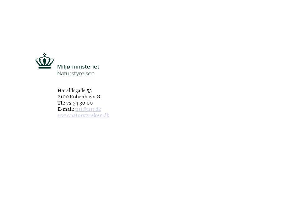 Tekst starter uden punktopstilling For at få punktopstilling på teksten (flere niveauer findes), brug >Forøg listeniveau- knappen i Topmenuen For at få venstrestillet tekst uden punktopstilling, brug >Formindsk listeniveau- knappen i Topmenuen INDSÆT FOOTER: >VIS >SIDEHOVED & SIDEFOD >APPLICÉR PÅ ALLE, STORE BOGSTAVERSIDE 5 Haraldsgade 53 2100 København Ø Tlf: 72 54 30 00 E-mail: nst@nst.dknst@nst.dk www.naturstyrelsen.dk
