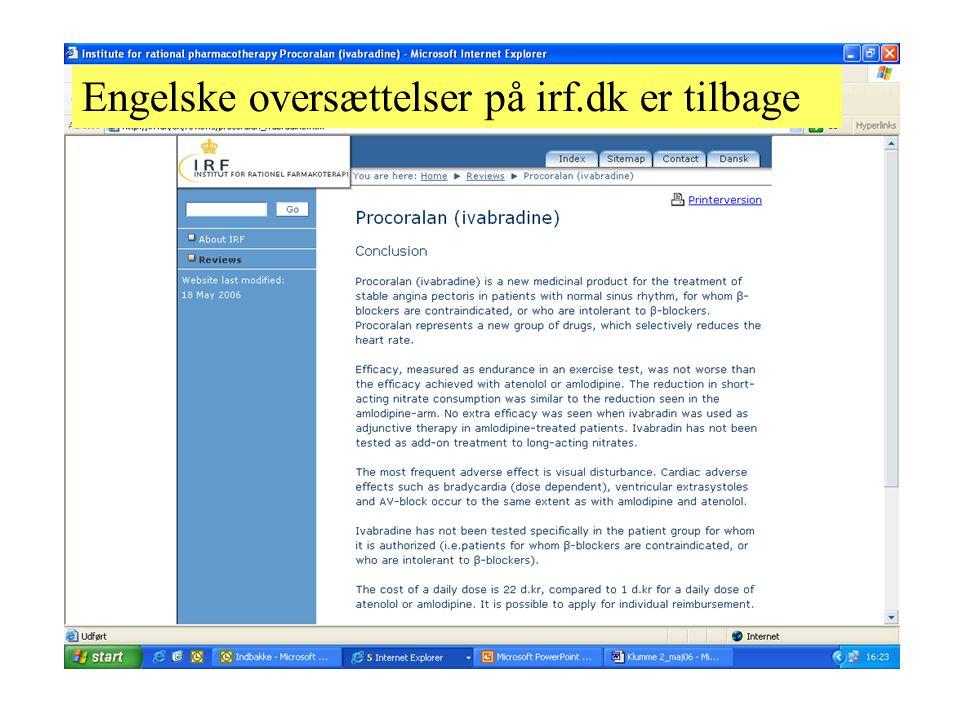 Engelske oversættelser på irf.dk er tilbage