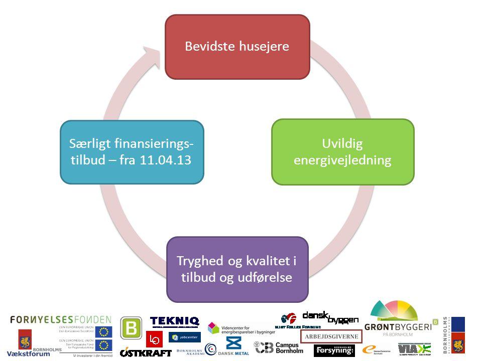 Bevidste husejere Uvildig energivejledning Tryghed og kvalitet i tilbud og udførelse Særligt finansierings- tilbud – fra 11.04.13