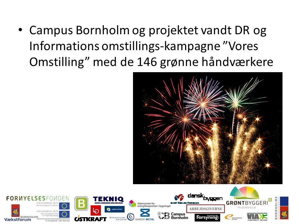 Campus Bornholm og projektet vandt DR og Informations omstillings-kampagne Vores Omstilling med de 146 grønne håndværkere