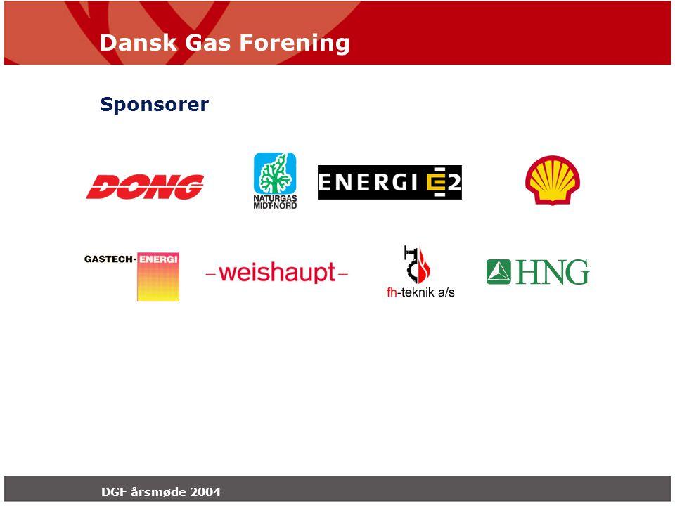 Dansk Gas Forening DGF årsmøde 2004 Sponsorer