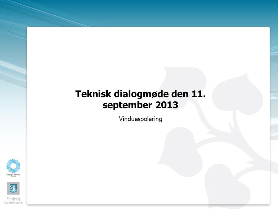 Teknisk dialogmøde den 11. september 2013 Vinduespolering