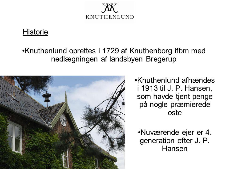 Historie Knuthenlund oprettes i 1729 af Knuthenborg ifbm med nedlægningen af landsbyen Bregerup Knuthenlund afhændes i 1913 til J.