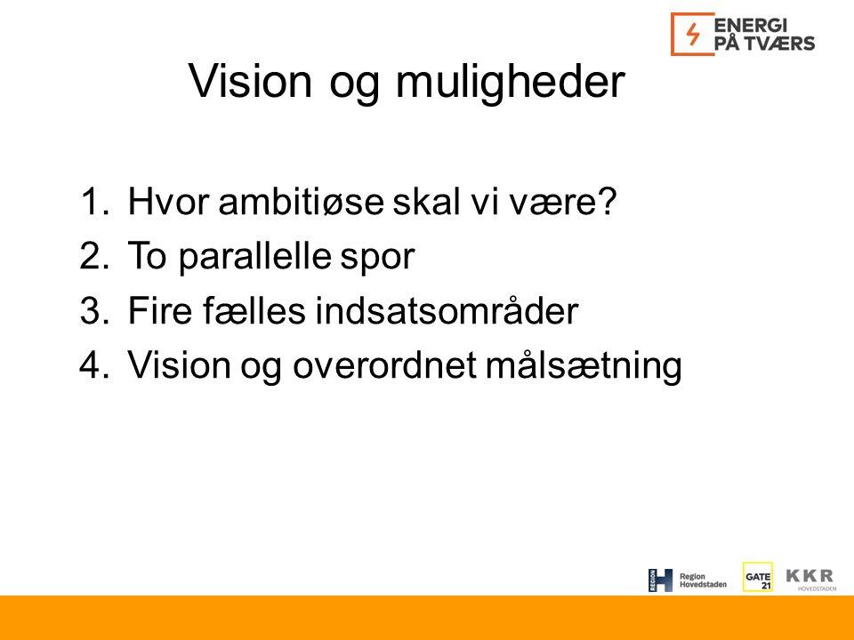 Vision og muligheder 1.Hvor ambitiøse skal vi være.