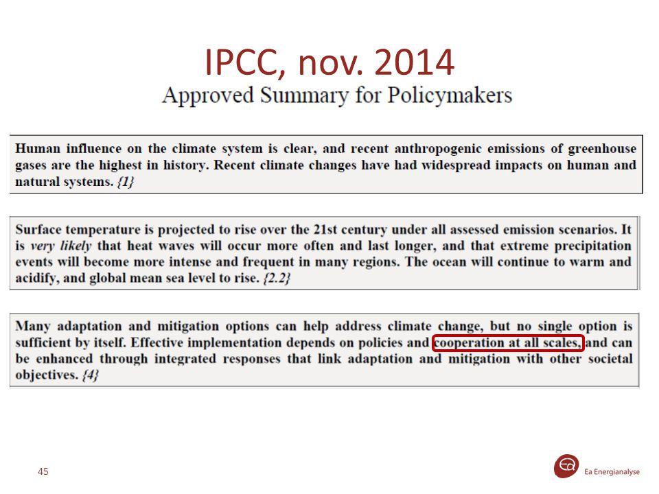 IPCC, nov. 2014 45