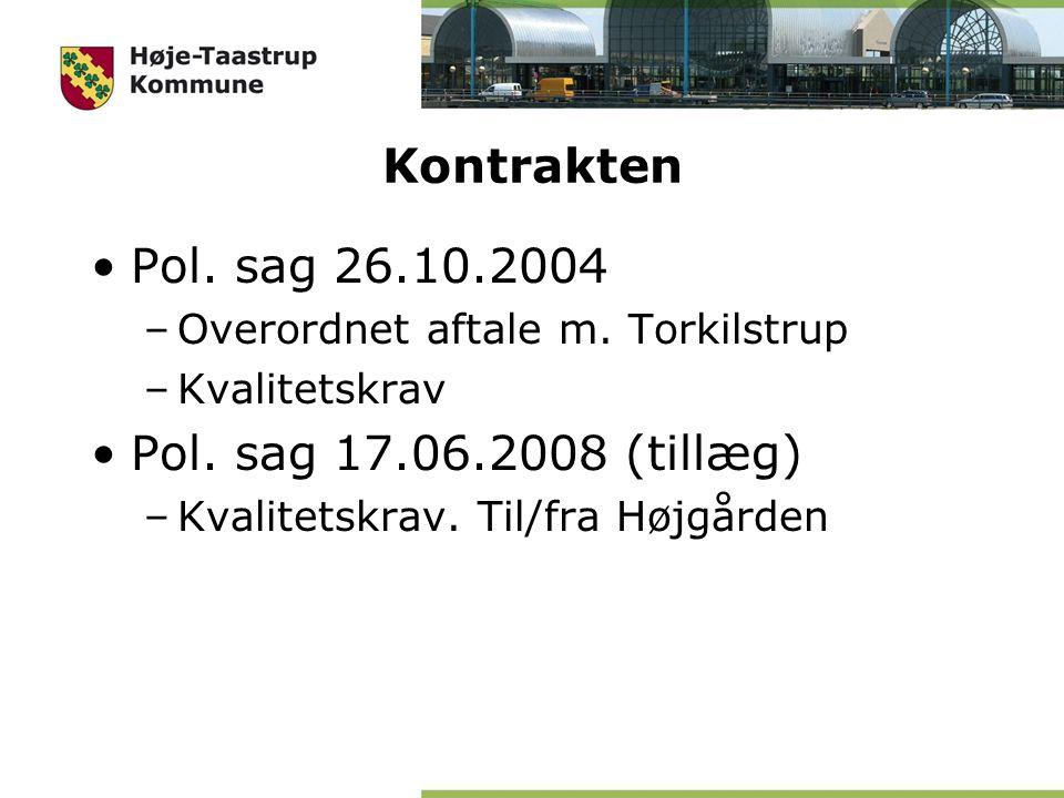 Kontrakten Pol. sag 26.10.2004 –Overordnet aftale m.