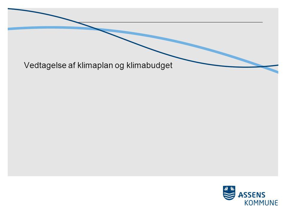 Vedtagelse af klimaplan og klimabudget