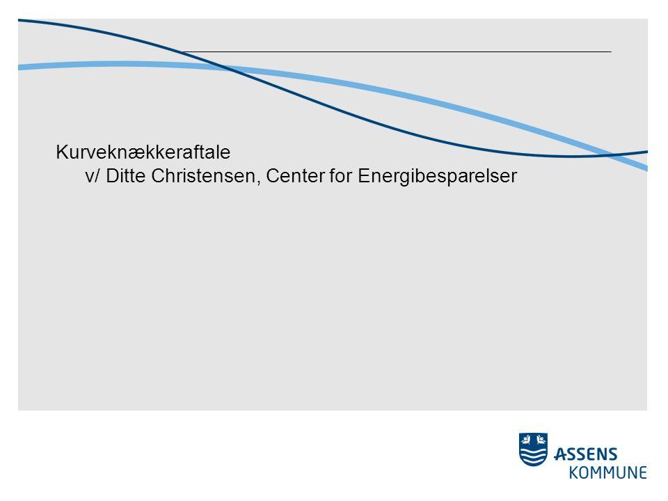 Kurveknækkeraftale v/ Ditte Christensen, Center for Energibesparelser