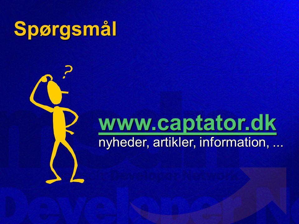 Spørgsmål www.captator.dk www.captator.dk nyheder, artikler, information,... www.captator.dk