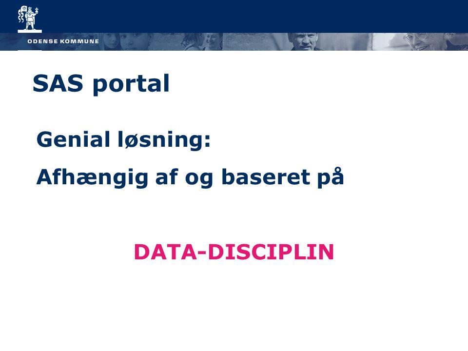 SAS portal Genial løsning: Afhængig af og baseret på DATA-DISCIPLIN