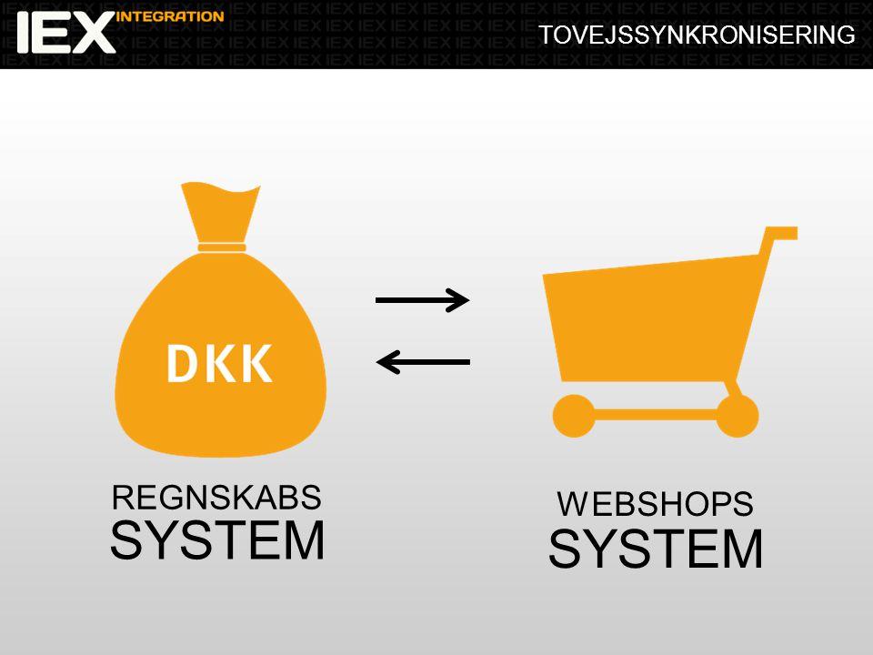 TOVEJSSYNKRONISERING REGNSKABS SYSTEM WEBSHOPS SYSTEM