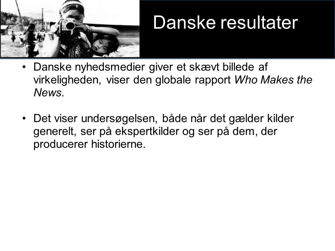 Danske nyhedsmedier giver et skævt billede af virkeligheden, viser den globale rapport Who Makes the News.