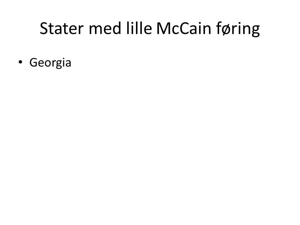 Stater med lille McCain føring Georgia