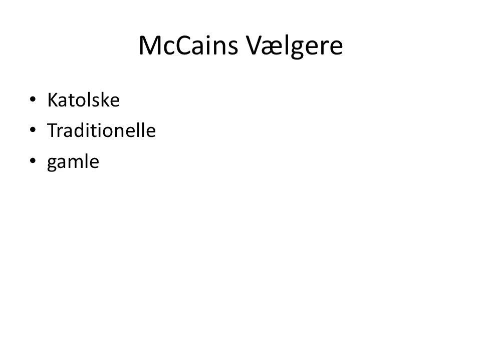 McCains Vælgere Katolske Traditionelle gamle