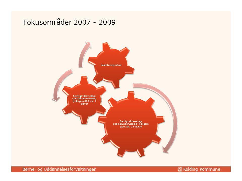 Kolding Kommune Børne- og Uddannelsesforvaltningen Særligt tilrettelagt specialundervisning (tidligere §20 stk.