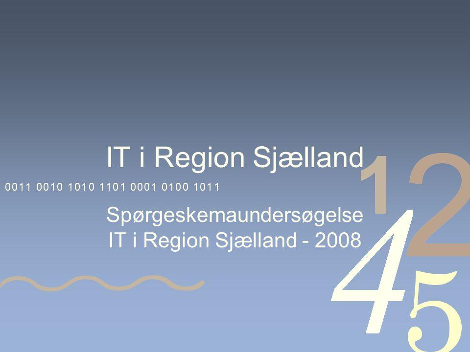 IT i Region Sjælland Spørgeskemaundersøgelse IT i Region Sjælland - 2008