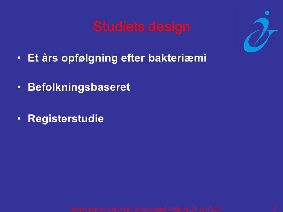 3 Temamøde om forskning, Mikrobiologisk Afdeling, 26.