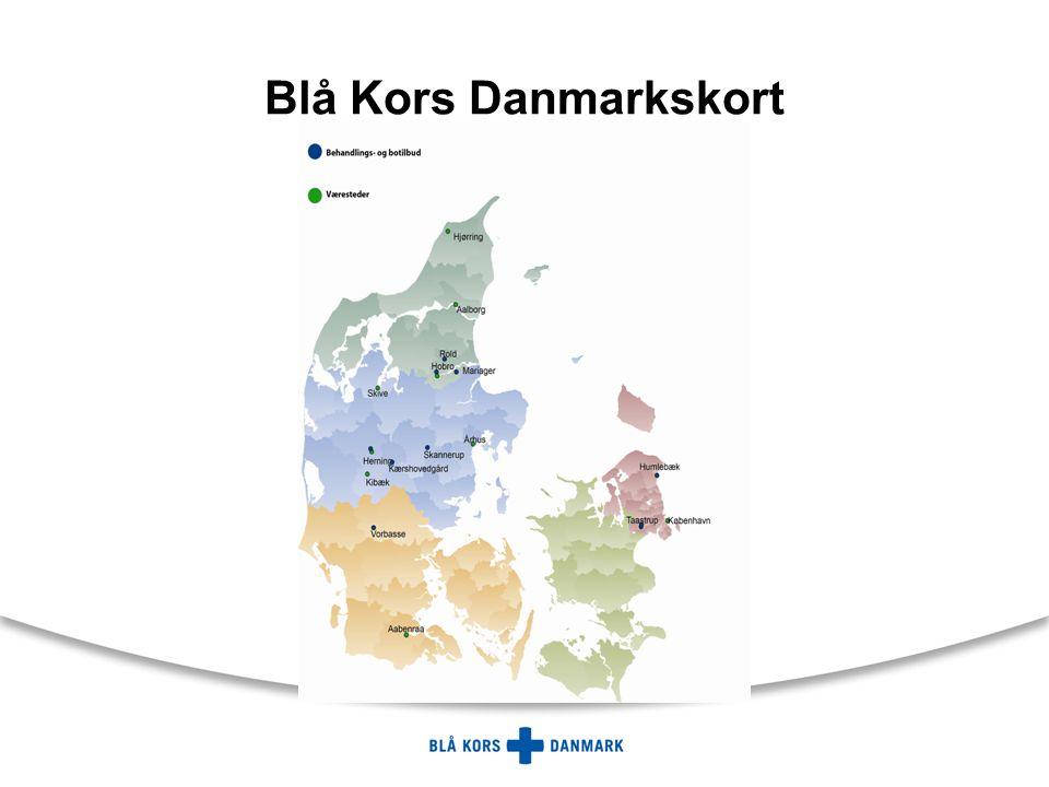 Blå Kors Danmarkskort