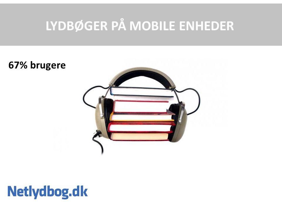 LYDBØGER PÅ MOBILE ENHEDER 67% brugere