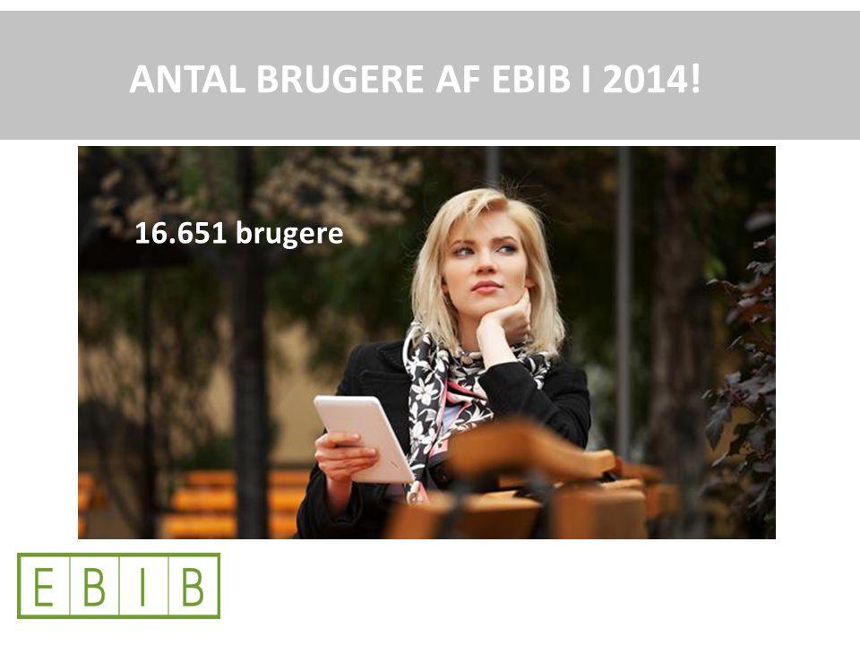 16.651 brugere ANTAL BRUGERE AF EBIB I 2014!