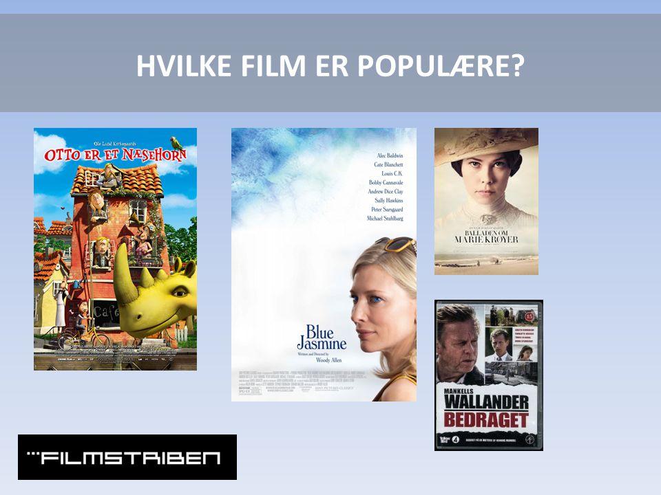 HVILKE FILM ER POPULÆRE
