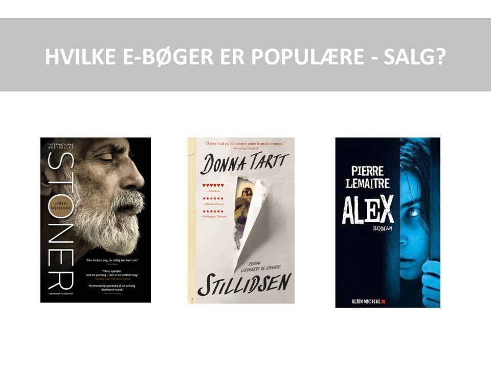 HVILKE E-BØGER ER POPULÆRE - SALG
