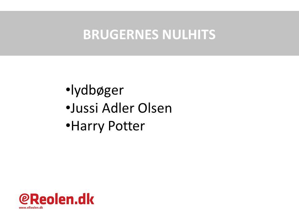BRUGERNES NULHITS lydbøger Jussi Adler Olsen Harry Potter