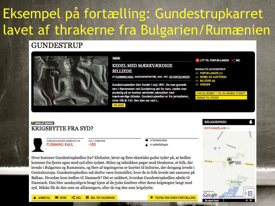 10-01-201516 Eksempel på fortælling: Gundestrupkarret lavet af thrakerne fra Bulgarien/Rumænien