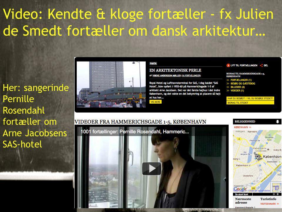 10-01-201517 Video: Kendte & kloge fortæller - fx Julien de Smedt fortæller om dansk arkitektur… Her: sangerinde Pernille Rosendahl fortæller om Arne Jacobsens SAS-hotel