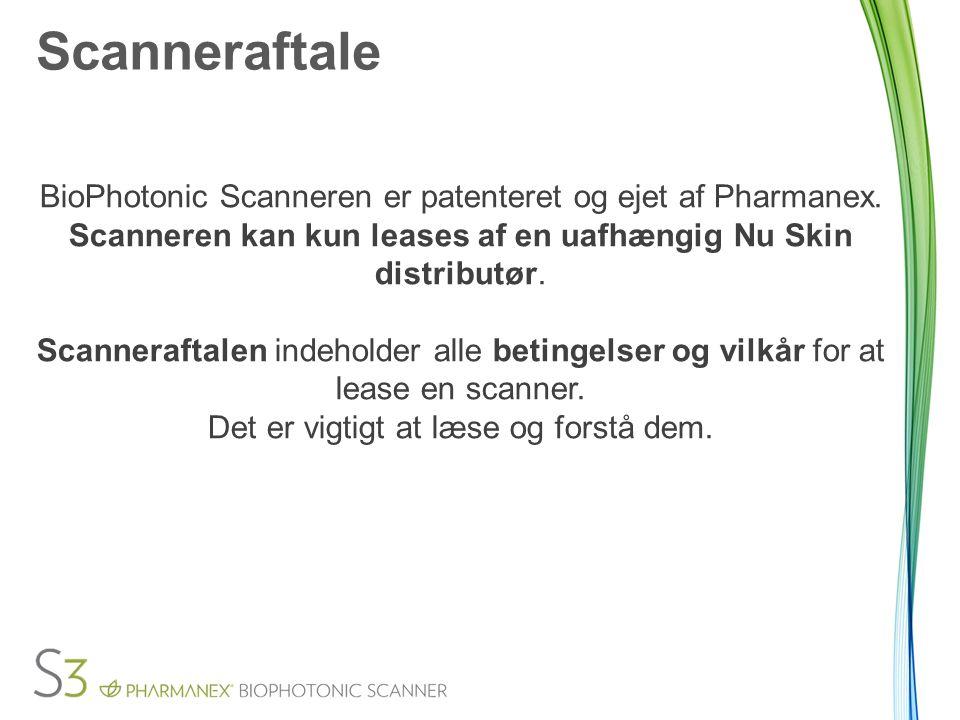 Scanneraftale BioPhotonic Scanneren er patenteret og ejet af Pharmanex.